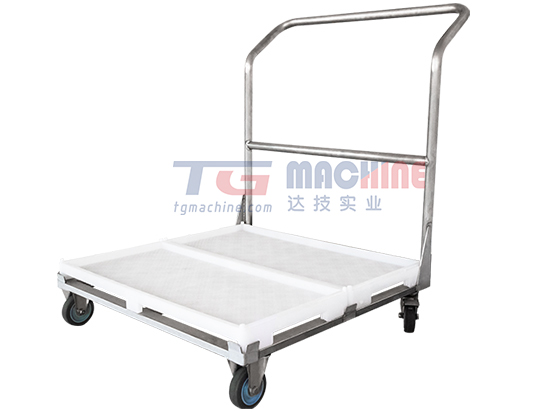 Self-stacking tray and cart
